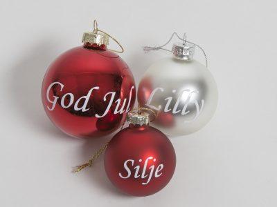 julekule med navn